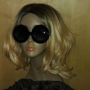 😎 movie star round vintage 70s style black shades